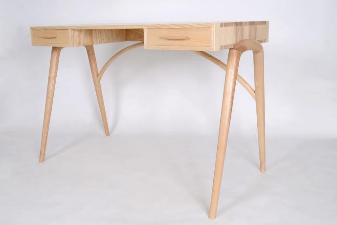 James' most recent project, a desk.